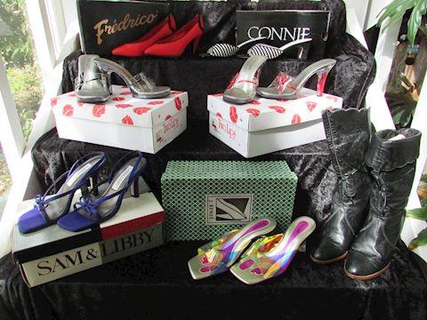 Vintage Ladies Pumps & Boots, Lot of 7 pair
