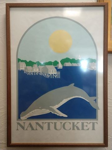 Signed Framed Nantucket Whale Lithograph
