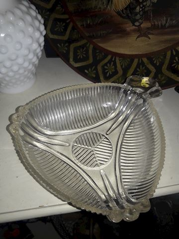 Cool Vintage Mid Century Glass ashtray.