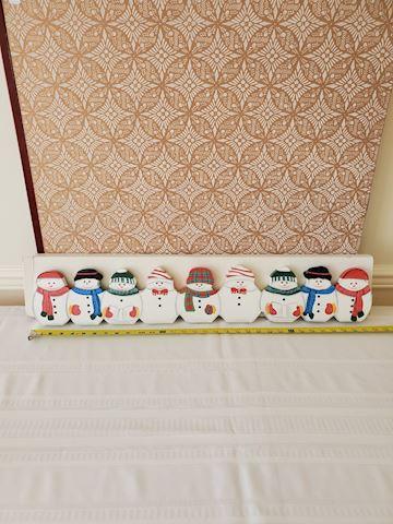 Christmas snowman door stopper
