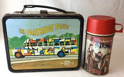 Partridge Family metal lunch box thermos 80S115