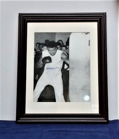 Framed Autographed Picture of Muhammad Ali
