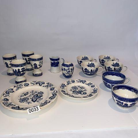 Lot 0033 Willow Pattern Allerton Blue & WhiteChina