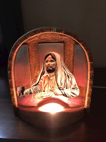 Jesus table night light lamp
