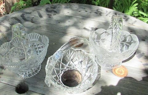 Crystal Basket Lot of 3