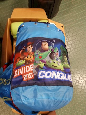 Vintage Toy Story Sleeping bag & collector bag
