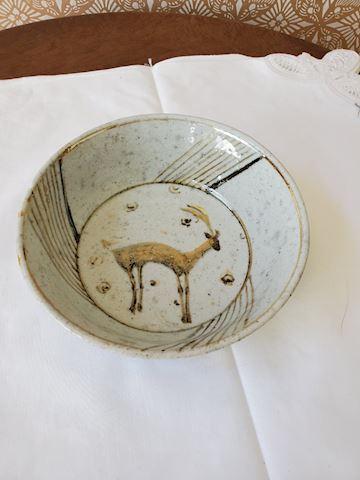 7' handmade pottery bowl