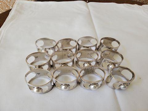 12 Sterling napkin rings