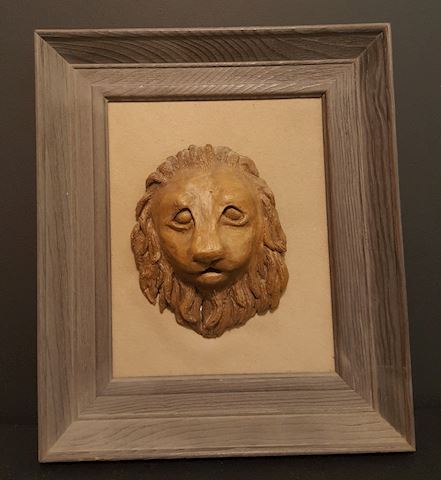 Old Lion Art Sculpture Print