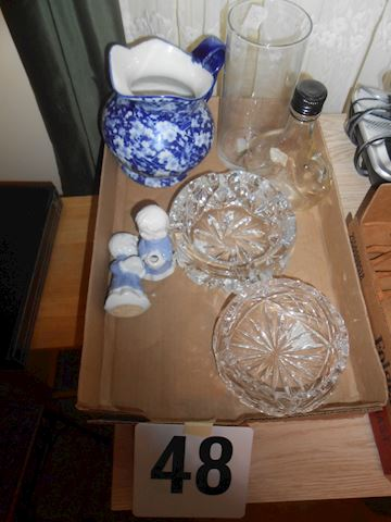 Lot #48 Crystal ashtray, etc