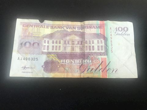 Suriname 100 Gulden paper money note