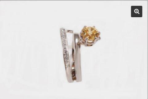 Yellow Zircon Ring 1.5 Carat