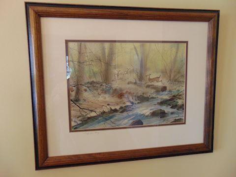 Original Framed Watercolor Art