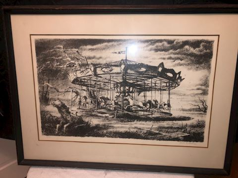 Merry go round signed and numbered
