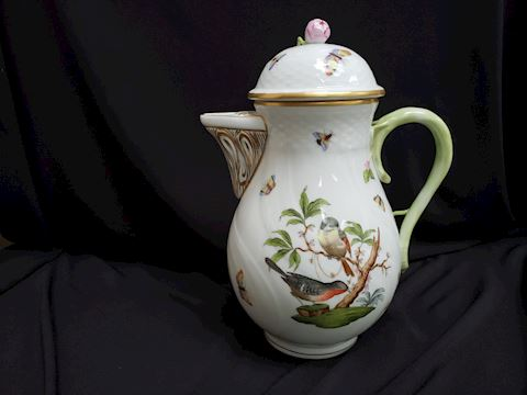 HEREND ROTHSCHILD BIRDS 1481 RO COFFEE POT 10""