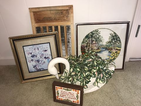 Home decor and floral basket arrangements