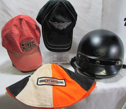 Harley Davidson Hat/Helmet 4 pc Lot