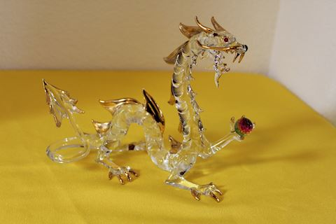 Glass Dragon Figurine