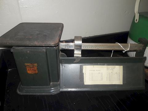 Vintage Triner postal Scale with postage rates