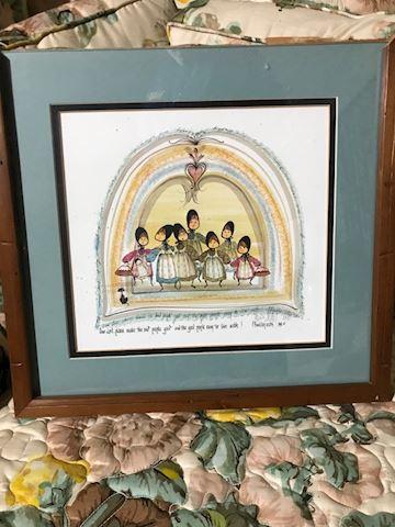 Liv.  581.  Prayer Illustration by Buckley Moss