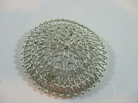 "3"" Vintage Spiral Silver Tone Brooche  Nice"