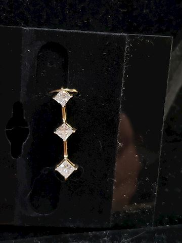 Princess Cut Approx .70ctw diamond pendant 14k