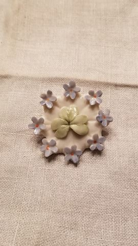 Belleek brooch