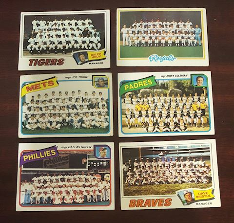 6 -1977-1980 Baseball Team Photo Cards