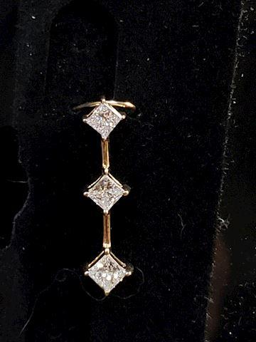 Princess Cut Approx .70ctw diamond pendant 14k