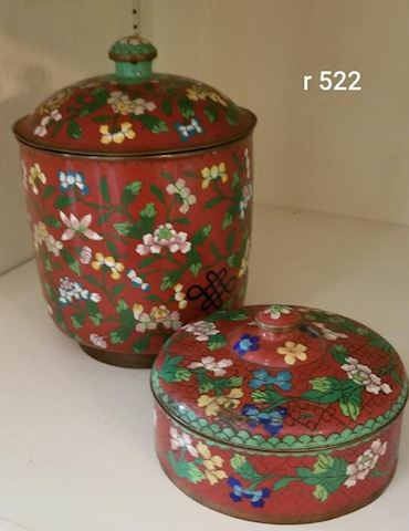 R-1002...Cloisonne Canisters