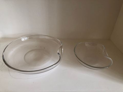 2   Glass Tiffany Bowls by Elsa Peretti