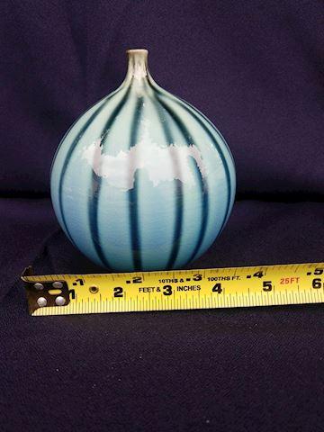 Jan Bilek small blue signed vase