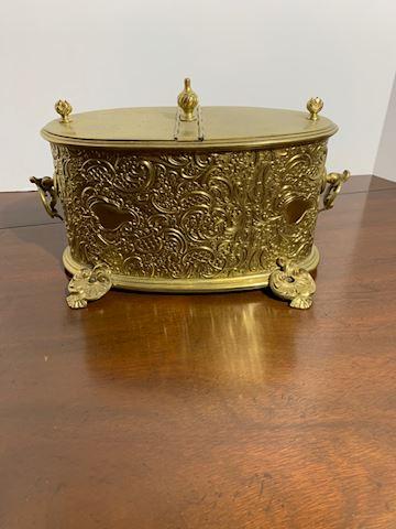 LIV. Brass Cracker box