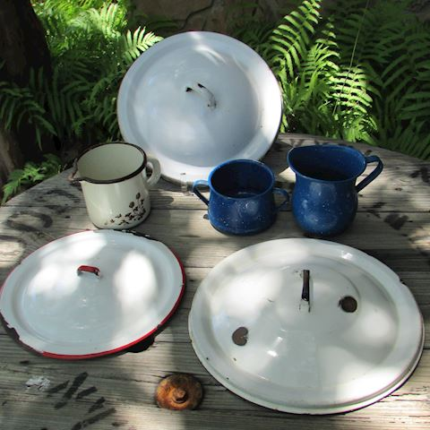 Enamel Ware 6pc lot