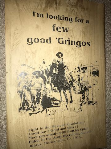 Pancho Villa old poster, Looking for a few good Gr