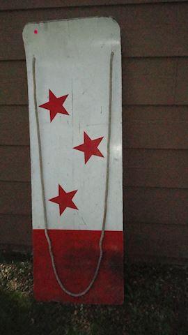 Vintage water ski board w/rope Lot # 161
