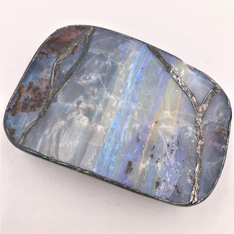Artisan Made Sterling Silver Opal Agate Buckle