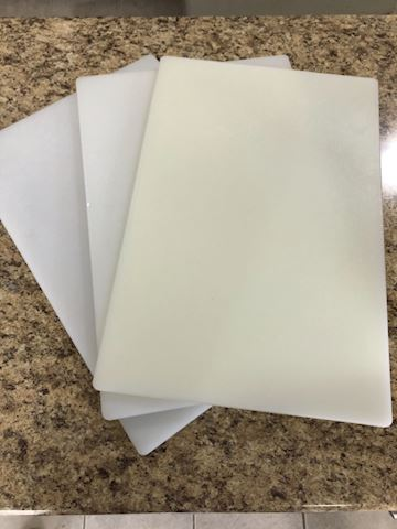 """Cutting Boards (NSF cert., 3/4"""" thick, HDPE) 18x12"""