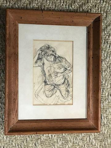 Black/white etching nude S.C.  Schoneberg