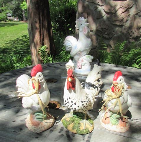 Lot of 4 Roosters