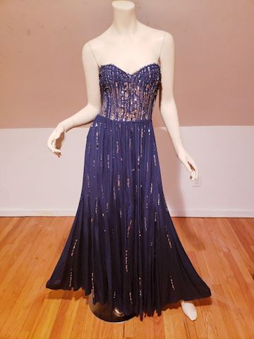 Rebecca Taylor Meteor shower embellished silk Gown