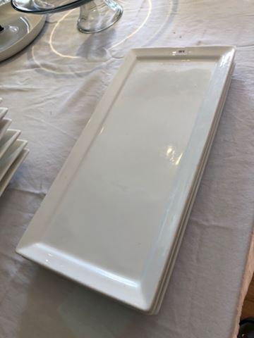 Rectangular ceramic plates - set/4 - #6