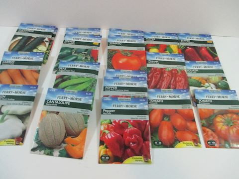 Perry Morse Vegetable Seeds Lot of 21