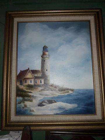 Oil Painting Lighthouse by local Artist