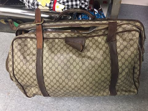 Original Vintage Antique Gucci Suitcase