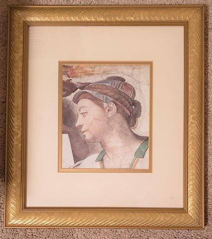 #1 Michaelangelo Framed Picture