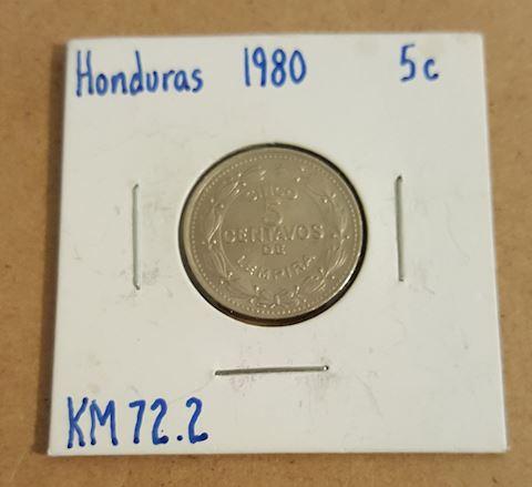 Old 1980 Honduras 5 cent Coin