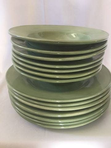Lot of Pottery Barn Bowls and Plates
