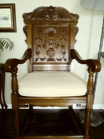 Beautiful handcarved wooden chair