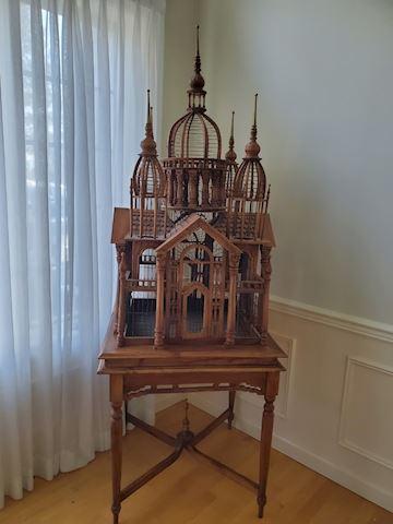 Vintage Teak birdhouse.